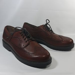 Dockers mens leather lace up shoes size 9.5